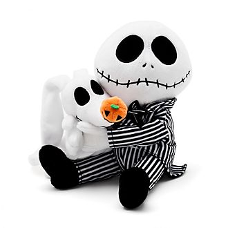 Disney Store Jack Skellington and Zero Soft Toy Set