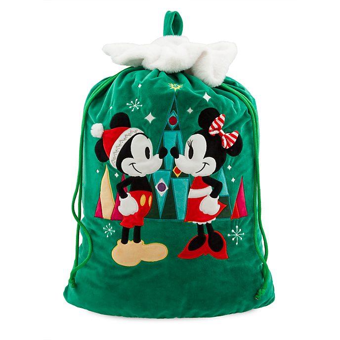 Saco Navidad Minnie y Mickey Mouse, Disney Store