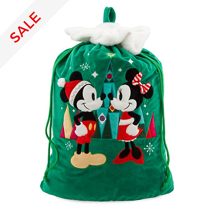 Disney Store Mickey and Minnie Mouse Christmas Sack