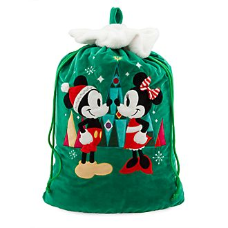 Disney Store Hotte de Noël Mickey et Minnie Mouse