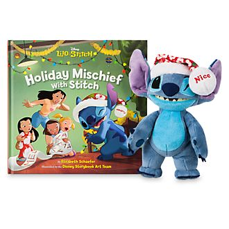 Disney Store Stitch Mini Bean Bag and Book Set