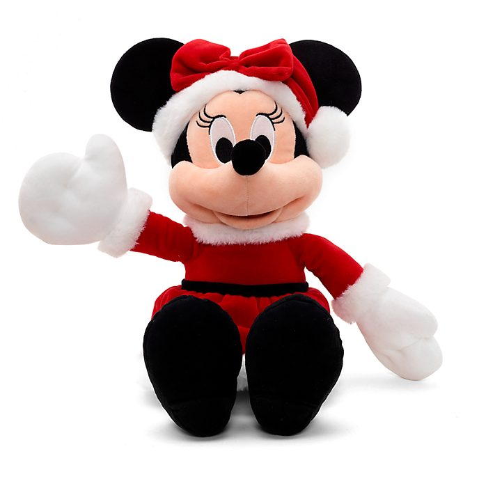 Disney Store Minnie Mouse Share the Magic Festive Small Soft Toy