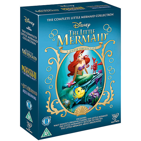 The Little Mermaid 1 2 Amp 3 Dvd Boxset