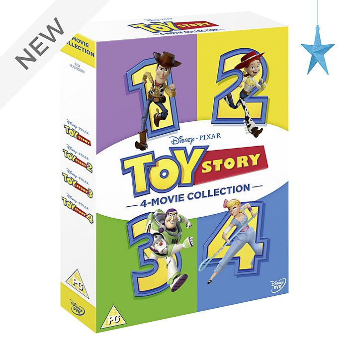 Toy Story 1-4 Complete DVD Boxset