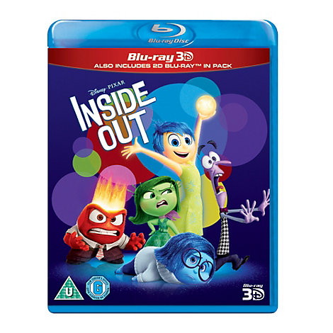 Inside Out Blu-ray 2D and 3D