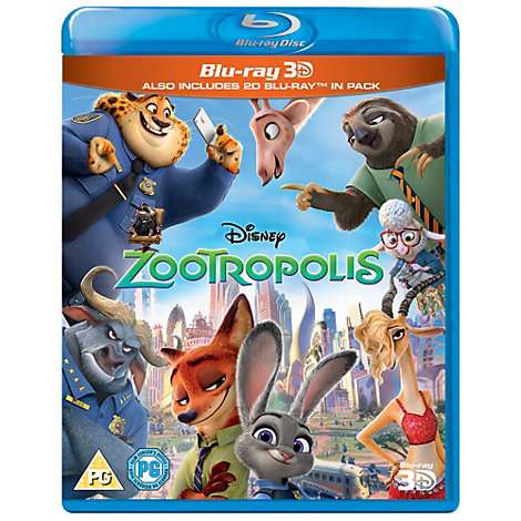 Zootropolis 3D Blu-ray