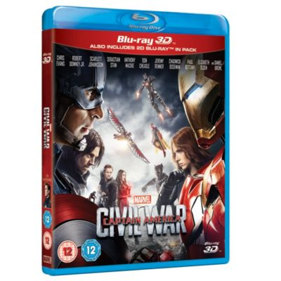 Captain America: Civil War 3D Blu-ray
