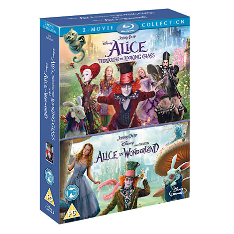 Alice In Wonderland & Alice Through the Looking Glass Double Pack Blu-ray