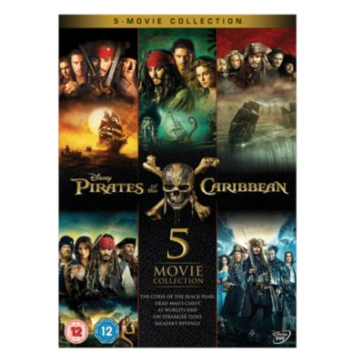 Pirates Of The Caribbean 1 5 Dvd Boxset