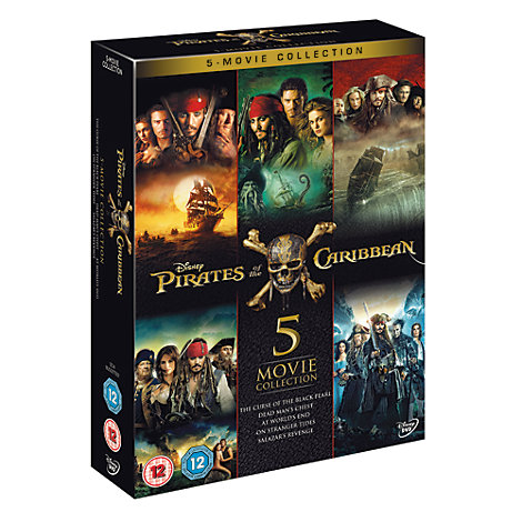 Pirates of the Caribbean 1-5 DVD Boxset