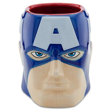 Taza tridimensional Capitán América, Marvel