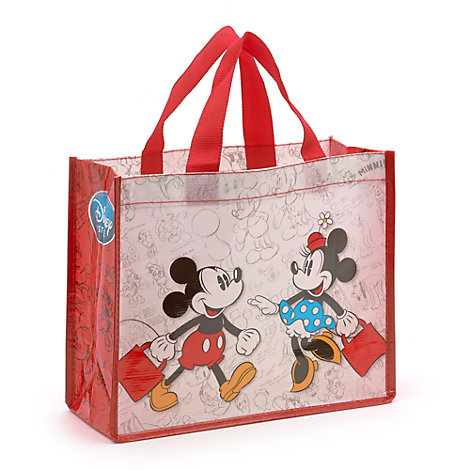 Lille Mickey og Minnie Mouse shoppingtaske