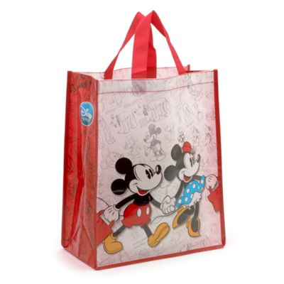 Mickey og Minnie Mouse shoppingtaske, standardstoerrelse