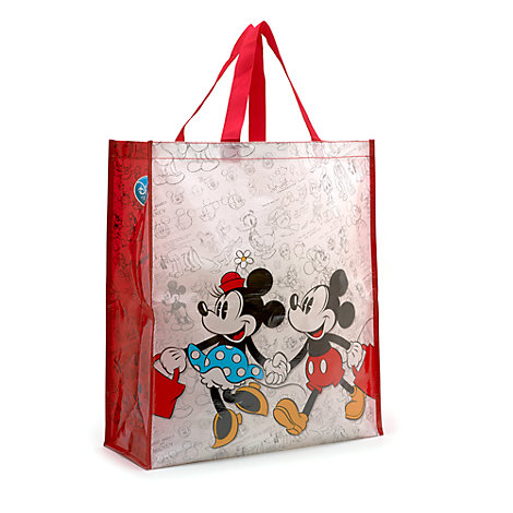 Stor Mickey og Minnie Mouse shoppingtaske