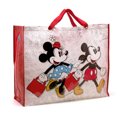 Ekstra stor Mickey og Minnie Mouse shoppingtaske