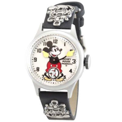Mickey Mouse 30's Collection-armbåndsur med læderrem fra Ingersoll