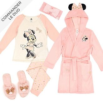 Disney Store Collection de vêtements d'intérieur Minnie pour adultes et enfants, MiniMe Loungewear