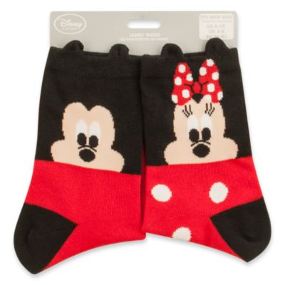 micky und minnie maus socken f r damen. Black Bedroom Furniture Sets. Home Design Ideas