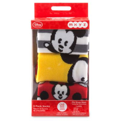 Mickey Mouse MXYZ strømper til damer, 3-pak