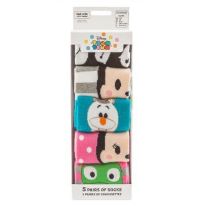 Ensemble de 5 paires de chaussettes Tsum Tsum pour femmes