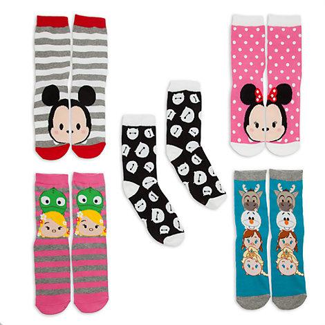 Tsum Tsum Ladies' Socks, Pack of 5