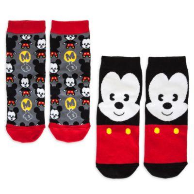 Mickey Mouse MXYZ Ladies Socks, Pack of 2