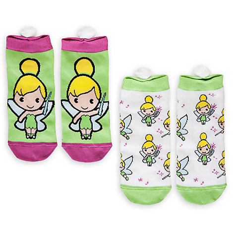Tinker Bell MXYZ Ladies Socks, Pack of 2