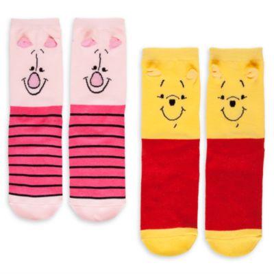 Nalle Puh sockor i damstorlek, 2 par