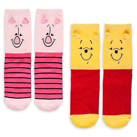 Winnie the Pooh Ladies Socks, Pack of 2