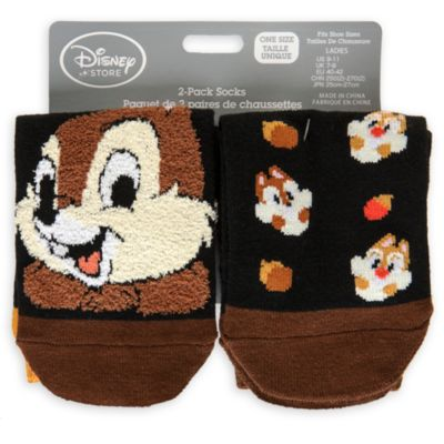 Chip and Dale Ladies Socks, Pack of Two