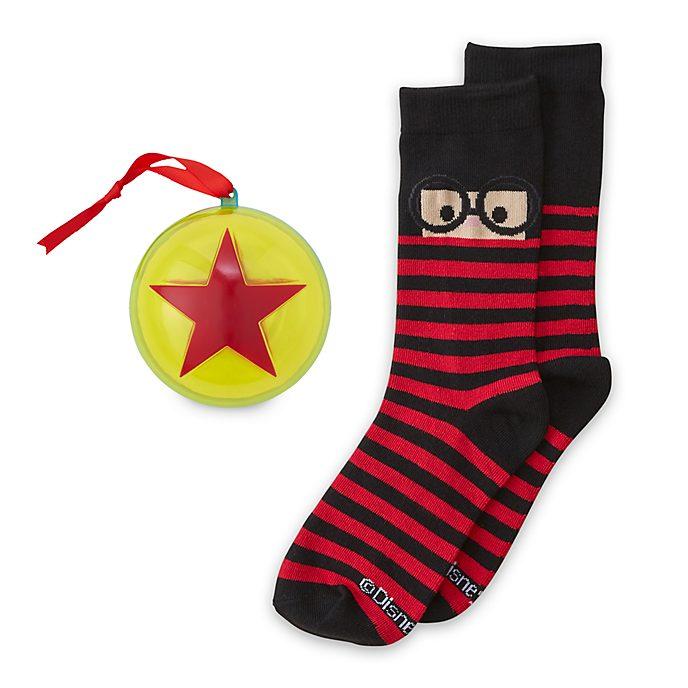 Disney Store - Edna Mode - 1 Paar Socken für Erwachsene als Dekorationsstück zum Aufhängen
