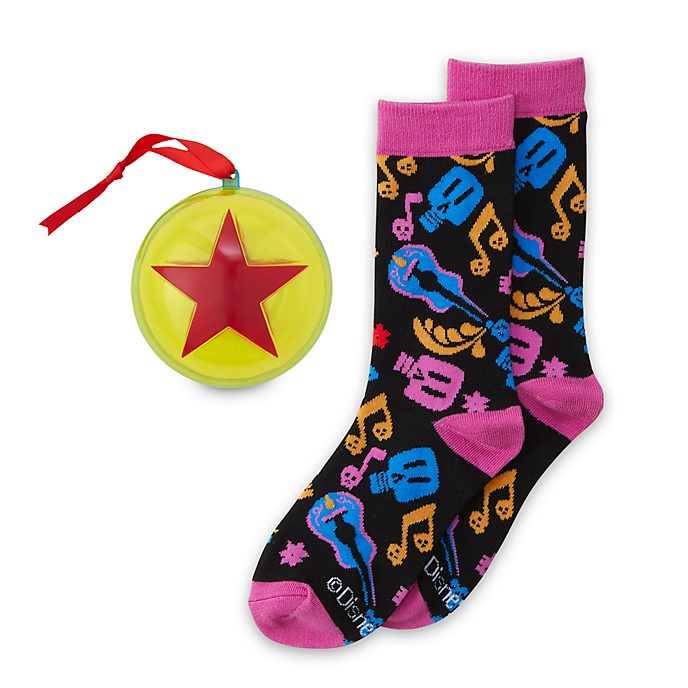 Disney Store Chaussettes décoratives Disney Pixar Coco à suspendre, pour adultes, 1paire