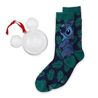 Disney Store - Stitch - 1 Paar Socken für Erwachsene als Dekorationsstück zum Aufhängen