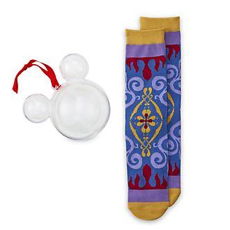 Disney Store Chaussettes décoratives Aladdin à suspendre, pour adultes, 1paire