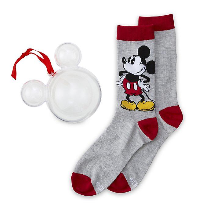 Disney Store - Micky Maus - 1 Paar Socken für Erwachsene als Dekorationsstück zum Aufhängen