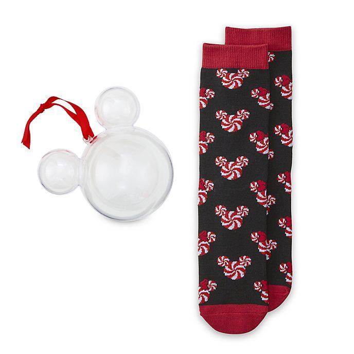 Adorno colgante calcetines adultos Mickey y Minnie, Disney Store (1par)