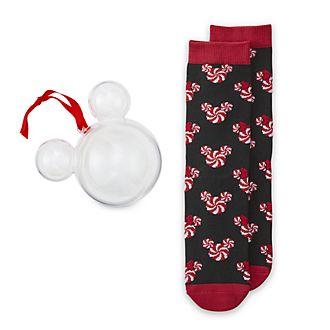 Disney Store - Micky und Minnie - 1 Paar Socken für Erwachsene als Dekorationsstück zum Aufhängen