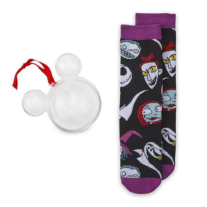 Adorno colgante calcetines Pesadilla antes de Navidad, Disney Store (1par)