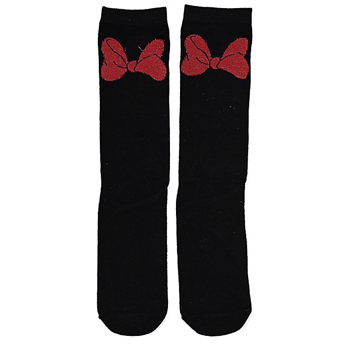 Typo Minnie Mouse Bow Socks For Adults, 1 Pair