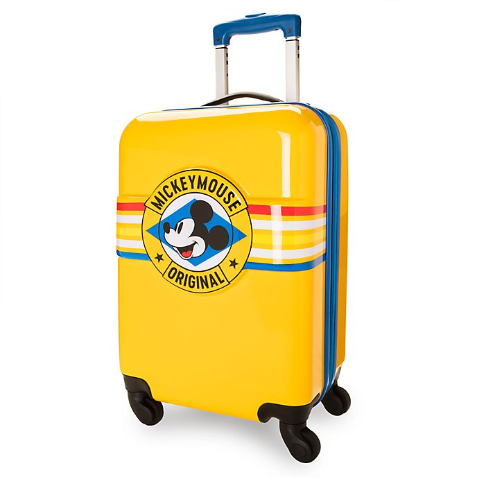 Disney Store Mickey Mouse Yellow Rolling Luggage