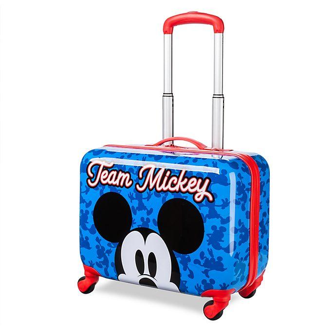Disney Store Valise à roulettes Mickey bleue