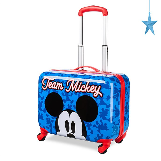 Disney Store Mickey Mouse Blue Rolling Luggage