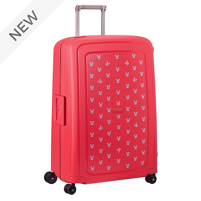 Samsonite Mickey Mouse S'Cure Large Red Rolling Luggage