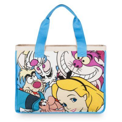 Alice og vennerne shoppingtaske i kanvas, Alice i Eventyrland