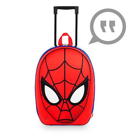Formstøbt rullekuffert med lyd og Spider-Man-illustration