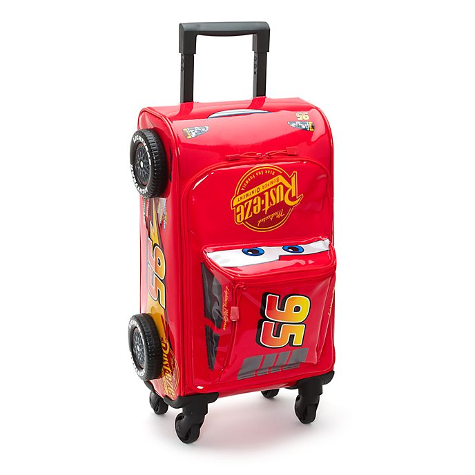 Disney Store Valise à roulettes Flash McQueen, Disney Pixar Cars 3