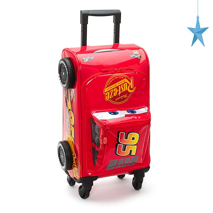 Disney Store Lightning McQueen Rolling Luggage, Disney Pixar Cars 3