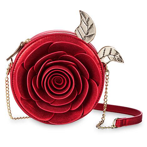 Skönheten och odjuret axelväska med ros