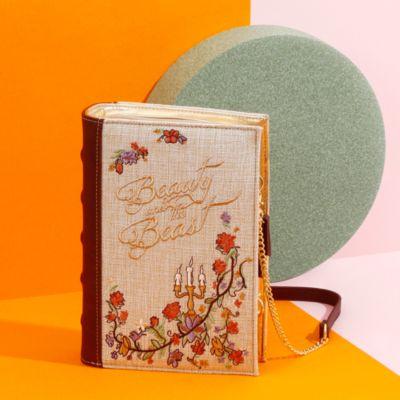 Bolso clutch con forma de libro La Bella y la Bestia