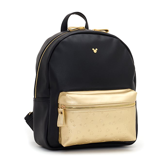 Disney Store Mickey Mouse Black and Gold Backpack